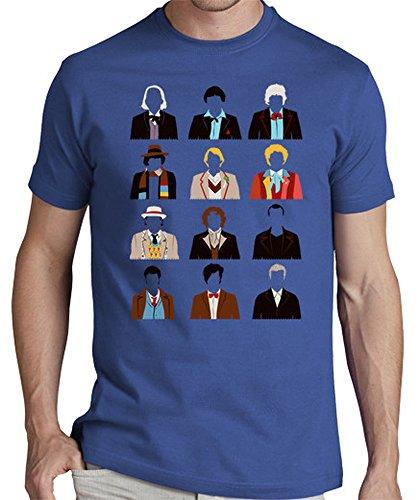 LaTostadora-Camiseta-Twelve-Doctors-Camiseta-hombre-clsica-calidad-premium-Azul-royal-Talla-S-0