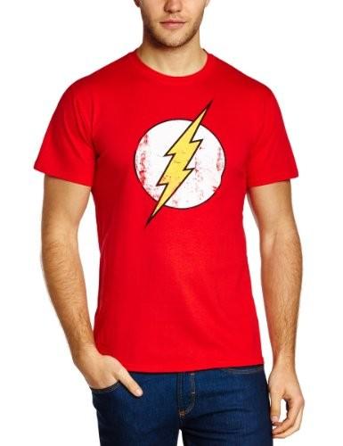 DC-Comics-Camiseta-de-Flash-con-cuello-redondo-de-manga-corta-para-hombre-0