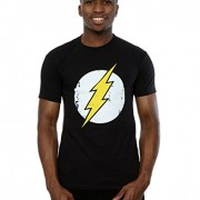 DC-Comics-hombre-Flash-Distressed-Logo-Camiseta-Small-Negro-0