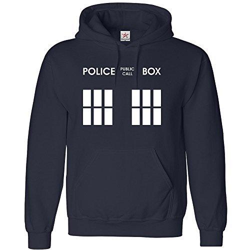 Estrella-y-rayas-Doctor-phone-box-kids-sudadera-con-capucha-de-estilo-deportivo-0