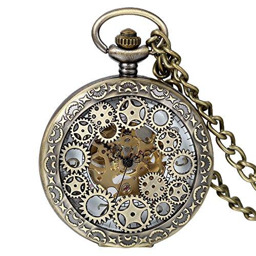 Avaner-Reloj-de-Bolsillo-Steampunk-Vintage-Reloj-Mecanico-de-Engranajes-Hueco-Half-Hunter-Reloj-Bronce-Nmeros-Arabigos-Buen-0