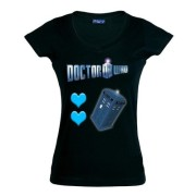 Camiseta-Doctor-Who-love-love-Tardis-manga-corta-chica-0
