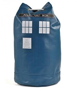 Dr-Doctor-Who-Duffle-Bag-Tardis-Retro-Blue-Sack-Faux-Leather-School-Rucksack-0