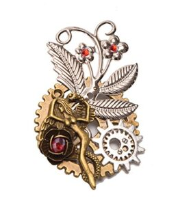 GRACEART-Vendimia-Steampunk-Engranajes-Reloj-Broche-Alfiler-0