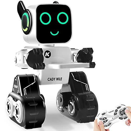 HBUDS-Remote-Control-Robot-Toy-para-nios-Robot-Interactivo-Control-tctil-y-de-Sonido-Banco-de-Monedas-Incorporado-programable-y-RC-Robot-Kit-para-nios-y-nias-de-Todas-Las-Edades-0