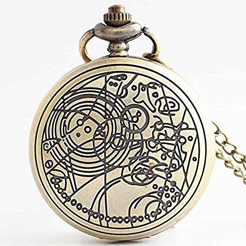 Hrph-Bronce-vendimia-talla-patrn-llavero-Steampunk-bolsillo-reloj-hombres-retro-0