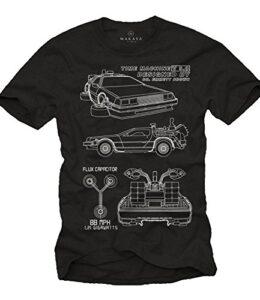 MAKAYA-Camisetas-Frikis-Hombre-Futuro-T-Shirt-Delorean-0
