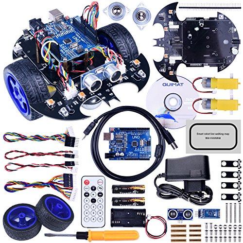 Robot-Arduino-Quimat-Coche-Robtica-con-Tutorial-de-Vdeo-en-CastellanoUNO-R3-Board-Control-Remoto-Bluetooth-0