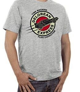 Touchlines-Delorean-Express-Time-Traveller-Camiseta-para-Hombre-0