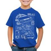 style3-DMC-12-Cianotipo-Camiseta-Para-Nios-T-Shirt-Fotocalco-Azul-0