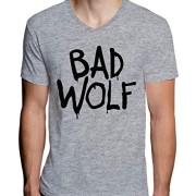 Bad-Wolf-Doctor-Who-Camiseta-con-Cuello-de-Pico-para-Hombre-Medium-0