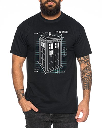 Blaupause-Doctor-UK-Who-Space-Box-Dalek-dr-Police-Doctor-Camiseta-de-Hombre-Mejor-Llame-a-Saul-Hombres-Nerd-Abogado-Breaking-Bad-Saul-Goodman-Walter-White-Farbe2NegroGre2L-0