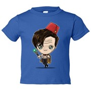 Camiseta-nio-Chibi-Kawaii-11th-Doctor-Who-parodia-Azul-Royal-7-8-aos-0