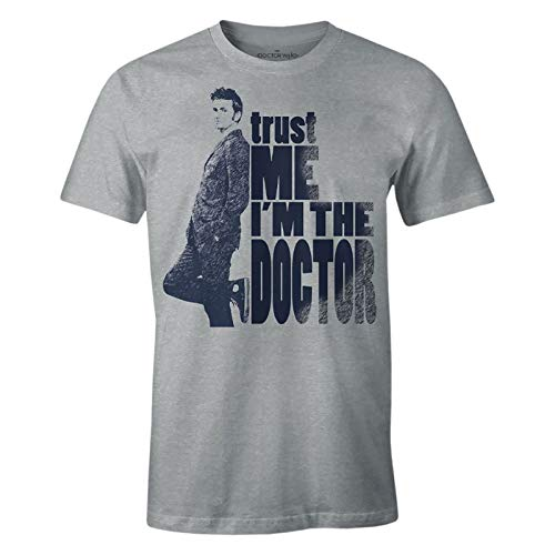 Camiseta-para-Hombre-Doctor-Who-Trust-Me-Im-The-Doctor-Heather-Grey-XL-0
