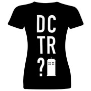 Doctor-Who-Dctr-Oficial-Camiseta-Mujer-Negro-L-0