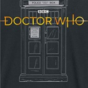 Doctor-Who-Logo-13th-Doctor-Tardis-Camiseta-Negro-XL-0-0