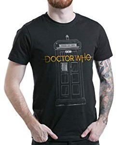 Doctor-Who-Logo-13th-Doctor-Tardis-Camiseta-Negro-XL-0-1