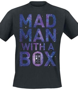 Doctor-Who-Mad-Man-with-A-Box-Camiseta-Negro-XXL-0