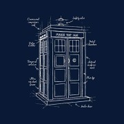 Doctor-Who-Tardis-Blueprint-Womens-T-Shirt-0-0
