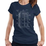 Doctor-Who-Tardis-Blueprint-Womens-T-Shirt-0