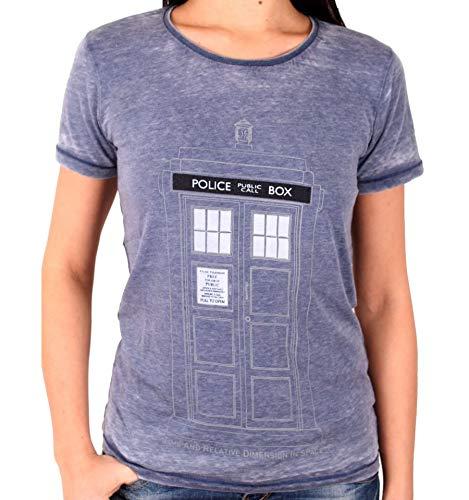 Doctor-Who-Tardis-Camiseta-Mujer-Azul-Jaspe-S-0