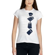 Doctor-Who-Twisting-Tardis-Camiseta-Mujer-Blanco-M-0