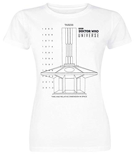 Doctor-Who-Universe-Oficial-Camiseta-Mujer-Blanco-M-0