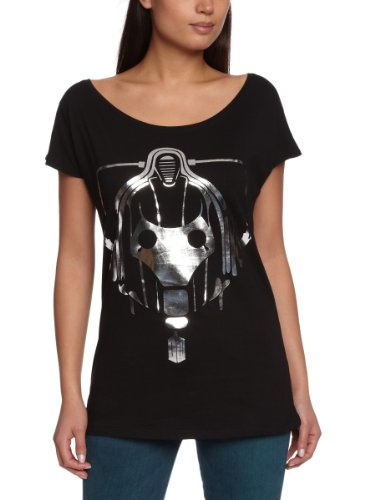 Playlogic-International-Camiseta-de-Doctor-Who-para-Mujer-Talla-40-Color-Negro-0