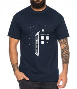 WhyKiki-Star-Doctor-UK-Who-Space-Box-Dalek-Dr-Police-Doctor-Camiseta-de-Hombre-Mejor-Llame-a-Saul-Hombres-Nerd-Abogado-Breaking-Bad-Saul-Goodman-Walter-White-Farbe2Azul-OscuroGre2L-0