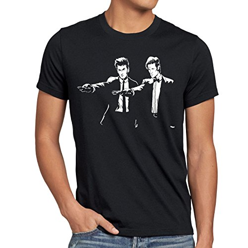 style3-Who-Time-Fiction-Camiseta-para-hombre-T-Shirt-dalek-dr-police-doctor-TallaM-ColorNegro-0